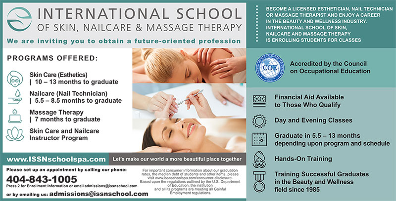 Become a Licensed Esthetician, Nail Technician or Massage Therapist in Atlanta